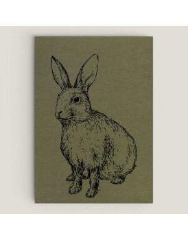 Wenskaart konijn mos