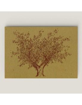 Wenskaart olijfboom hout