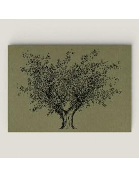 Wenskaart olijfboom mos