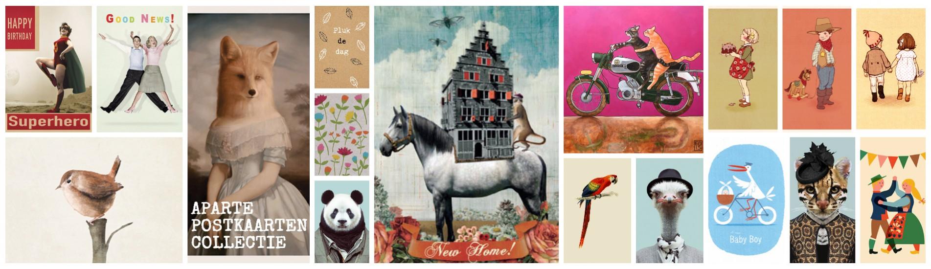 Banner-postkaarten-ansichtkaarten