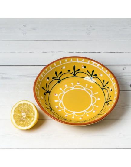 Dassie Artisan pasta schaal Floro