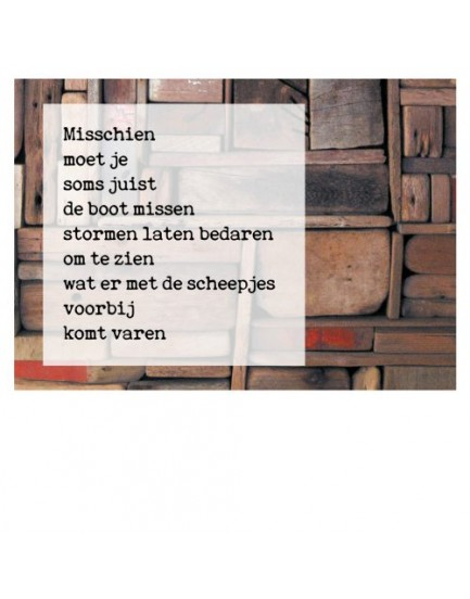 Postkaart gedicht Ariena Ruwaard 1