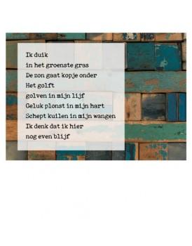 Postkaart gedicht Ariena Ruwaard 2