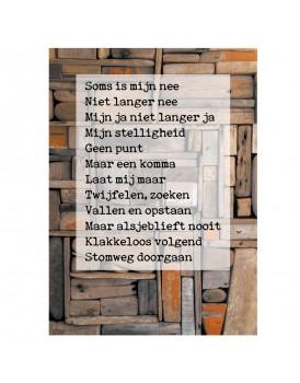 Postkaart gedicht Ariena Ruwaard 11