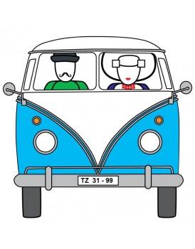 Wenskaart Illi Graphics VW Busje