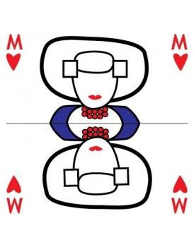 Wenskaart Illi Graphics speelkaart vrouw