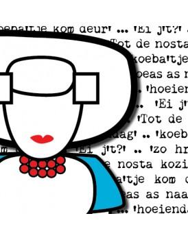 Wenskaart Illi Graphics Zeeuwse missjes dialect