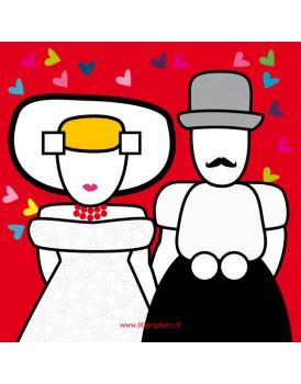 Wenskaart Illi Graphics huwelijk