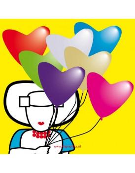 Wenskaart Illi Graphics ballonnen
