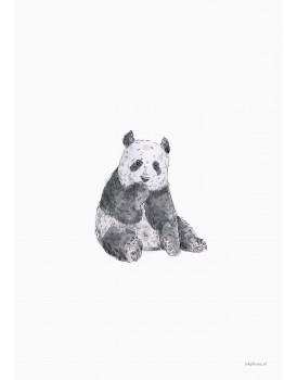 postkaart Inkylines panda