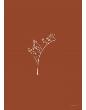 postkaart Inkylines rozenbottel