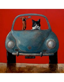 Postkaart Edart Cat and Dog