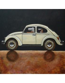 Postkaart Edart VW Kever 2