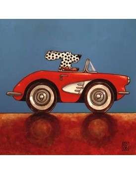 Postkaart Edart Corvette