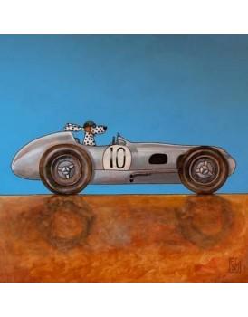 Postkaart Edart Fangio