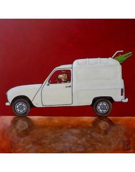 Postkaart Edart Renault Fourgonette