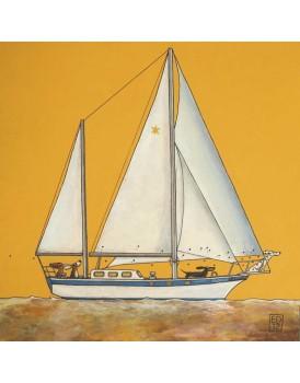 Postkaart Edart Sailing