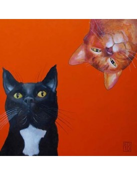 Postkaart Edart Two cats