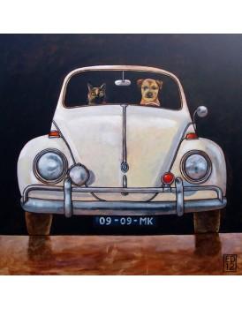 Postkaart Edart VW Kever