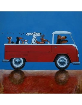 Postkaart Edart VW bus pick up