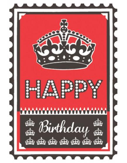 Postkaart happy birthday 12