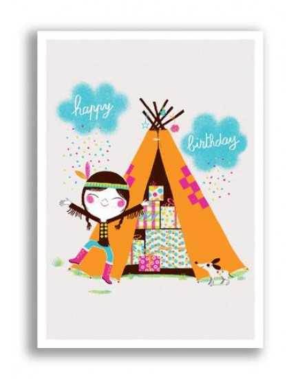 Postkaart happy birthday 18