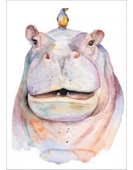 Postkaart nijlpaard