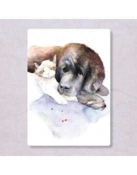 Postkaart hond