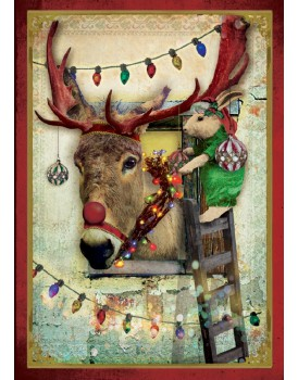 postkaart Kaartje of kip kerst 14