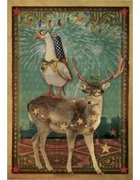 Postkaart Kaartje of kip kerst 2