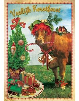 postkaart Kaartje of kip kerst 6