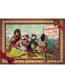 postkaart Kaartje of kip kerst 8