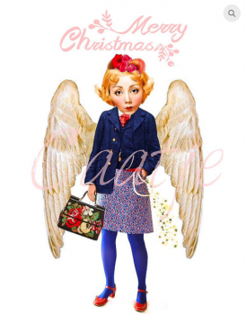 postkaart Caatje kerst 2