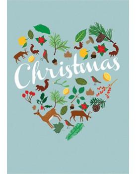 Wenskaart kerst hart 1