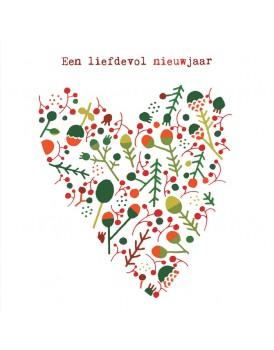 Wenskaart kerst hart 2