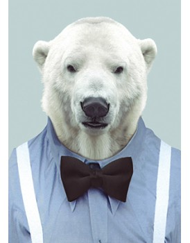 Wenskaart kerst ijsbeer
