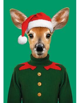 Wenskaart kerst kangoeroe