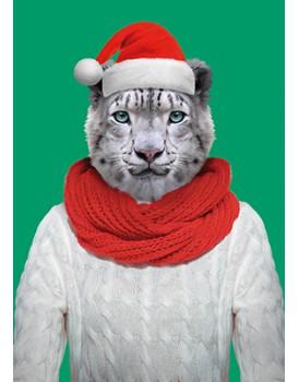 Wenskaart kerst kat