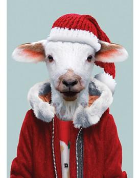 Wenskaart kerst lam