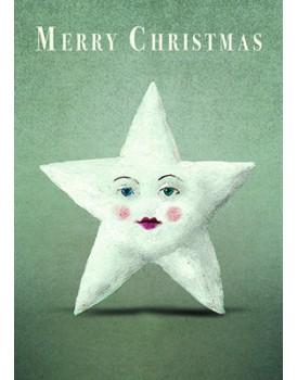 Wenskaart kerst ster