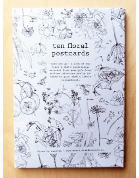 Maartje van den Noort set 10 floral