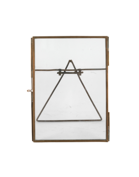 Nkuku dubbelglas fotolijstje koper staand S