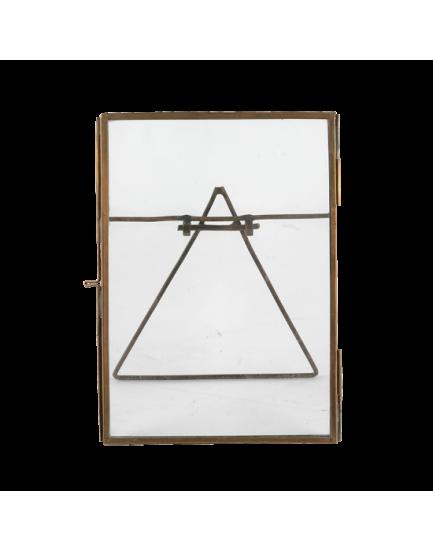 Nkuku dubbelglas fotolijstje koper staand L