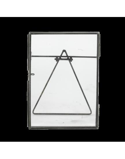 Nkuku dubbelglas fotolijstje zinc staand L