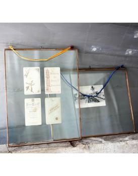 Nkuku dubbelglas fotolijst hang koper XL