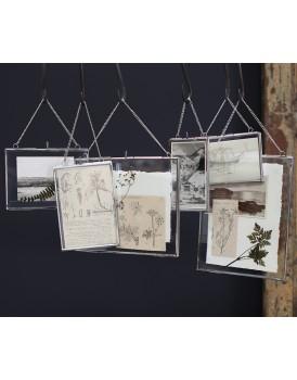 Nkuku dubbelglas fotolijst hang zilver L