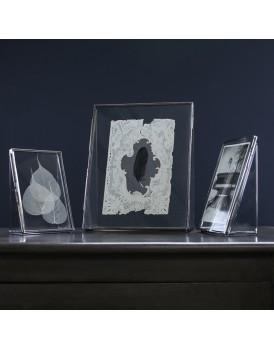 Nkuku dubbelglas fotolijst staand zilver S