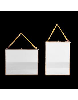 Nkuku dubbelglas fotolijst hang koper L