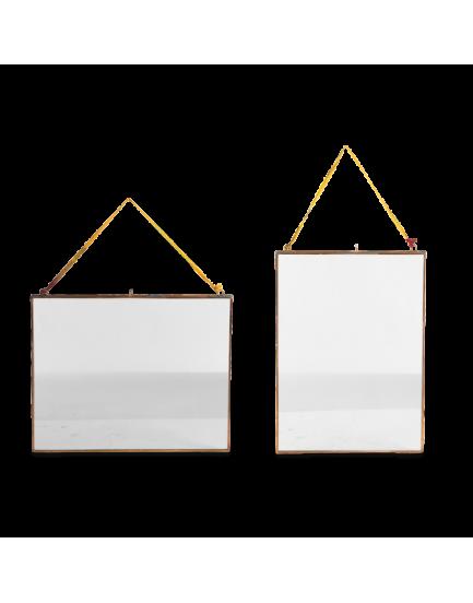 Nkuku dubbelglas fotolijst hang koper S