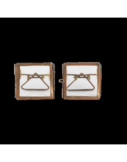 Nkuku dubbelglas fotolijstje koper staand XS